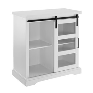 Walker Edison Farmhouse TV Cabinet - 32-in x 32-in - White