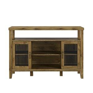 Walker Edison Rustic TV Cabinet - 52-in x 35-in - Barnwood