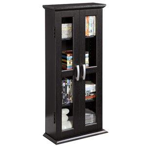 Walker Edison Media Storage Tower Cabinet -  41-in x 18-in - Black