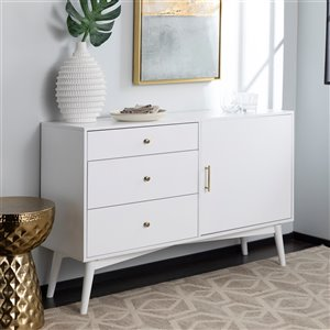 Walker Edison Mid-Century TV Cabinet - 52-in x 33-in - White