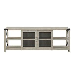 Walker Edison Farmhouse TV Cabinet - 70-in x 25-in - White Oak