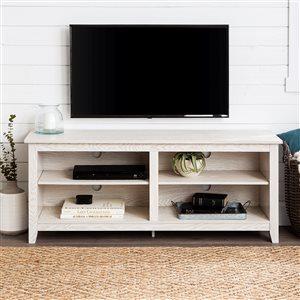 Walker Edison Casual TV Cabinet - 58-in x 24-in - White