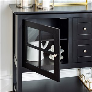 Walker Edison Console Table and TV Cabinet - 52-in x 16-in x 35-in - Black
