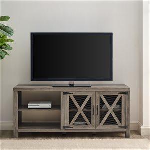 Walker Edison Farmhouse TV Cabinet - 58-in x 25-in - Grey