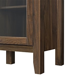 Walker Edison Rustic TV Cabinet - 52-in x 35-in - Dark Walnut
