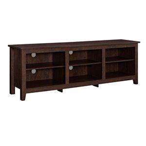 Walker Edison Modern TV Cabinet - 70-in x 24-in - Traditional Brown