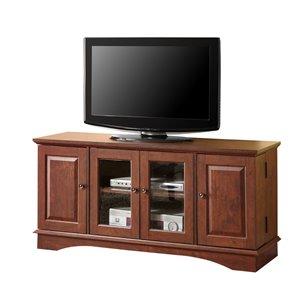 Walker Edison Casual TV Cabinet - 52-in x 24-in - Brown