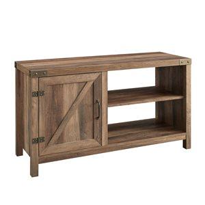 Walker Edison Farmhouse TV Cabinet - 44-in x 24-in - Rustic Oak