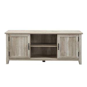 Walker Edison Farmhouse TV Cabinet - 58-in - White Oak