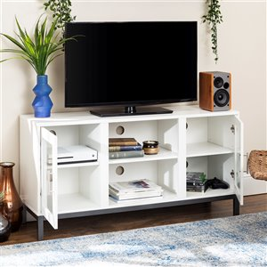Walker Edison Modern TV Cabinet - 52-in x 26-in - White
