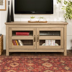 Walker Edison Casual TV Cabinet with 2 Doors - 44-in x 23-in - Grey