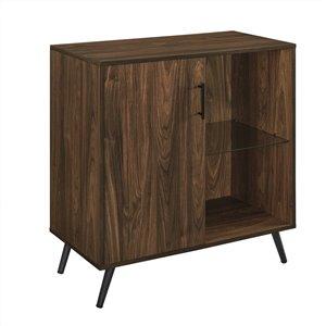 Walker Edison Casual TV Cabinet - 30-in x 33-in - Dark Walnut