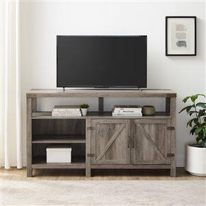 Walker Edison Farmhouse TV Cabinet - 58-in x 33-in - Grey