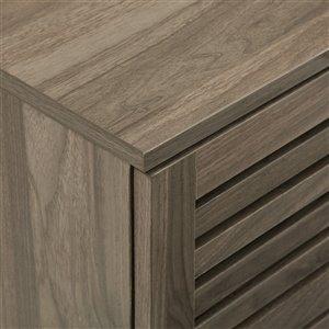 Walker Edison Industrial Nightstand - 18-in x 25-in - Slate Grey