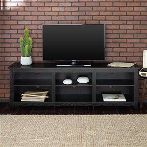 Walker Edison Modern TV Cabinet - 70-in x 24-in - Black