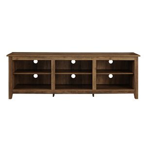 Walker Edison Modern TV Cabinet - 70-in x 24-in - Rustic Oak