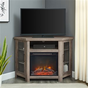 Walker Edison Casual Fireplace TV Stand - 48-in x 32-in - Grey