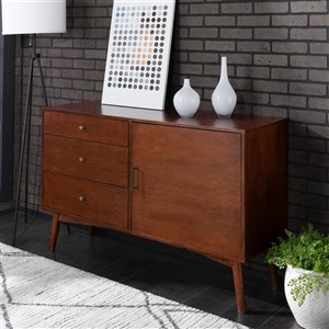 Walker Edison Mid-Century TV Cabinet - 52-in x 33-in - Walnut