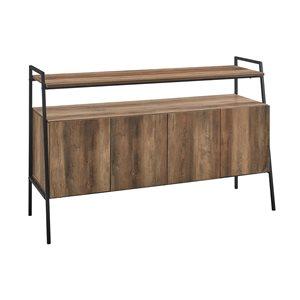 Walker Edison Industrial TV Cabinet - 52-in x 34-in - Rustic Oak
