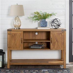 Walker Edison Farmhouse TV Cabinet - 52-in x 35-in - Barnwood