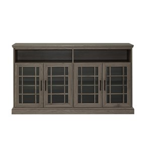 Walker Edison Casual TV Cabinet - 58-in x 33-in - Slate Grey