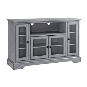 Walker Edison Modern TV Cabinet - 52-in x 33-in - Antique Grey