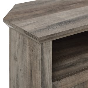 Walker Edison Country Corner TV Stand - 44-in x 32-in - Grey