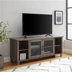 Walker Edison Rustic TV Cabinet - 58-in x 23-in - Grey