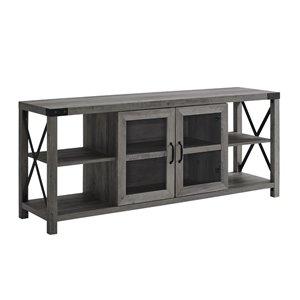 Walker Edison Farmhouse TV Cabinet - 60-in x 25-in - Grey