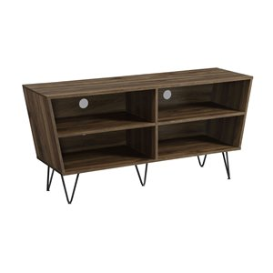 Walker Edison Mid-Century TV Cabinet - 52-in x 25-in - Dark Walnut