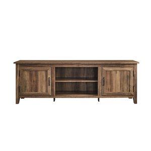 Walker Edison Farmhouse TV Cabinet - 70-in x 24-in - Rustic Oak