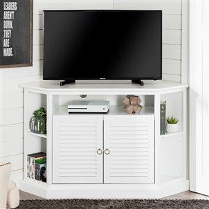 Walker Edison Modern Corner TV Stand - 52-in x 32-in - White