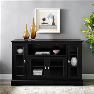Walker Edison Modern TV Cabinet - 52-in x 33-in - Black
