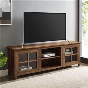Walker Edison Farmhouse TV Cabinet - 70-in - Rustic Oak