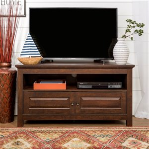 Walker Edison Casual TV Cabinet - 44-in x 23-in - Brown