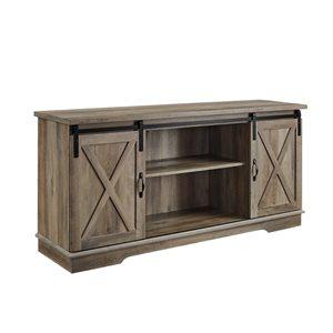 Walker Edison Farmhouse TV Cabinet - 58-in x 28-in - Grey