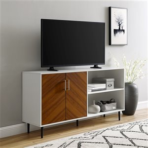Walker Edison Mid-Century TV Cabinet - 58-in x 30-in - White