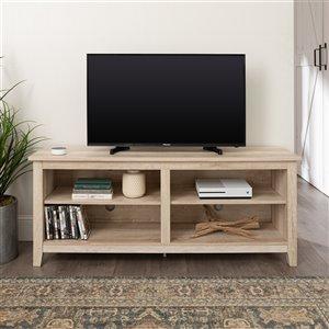 Walker Edison Casual TV Cabinet - 58-in x 24-in - White Oak