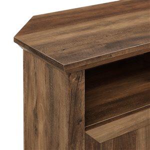Walker Edison Country Corner TV Stand - 44-in x 32-in - Reclaimed Barnwood