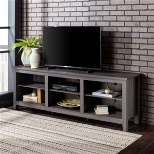 Walker Edison Modern TV Cabinet - 70-in x 24-in - Charcoal