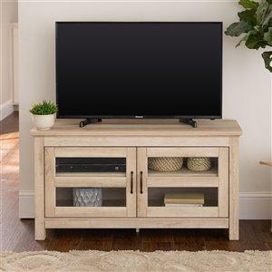 Walker Edison Country TV Cabinet - 44-in x 23-in - White Oak