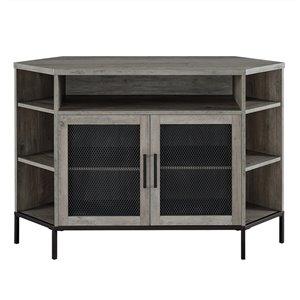 Walker Edison Industrial Corner TV Stand - 48-in x 32.25-in - Grey