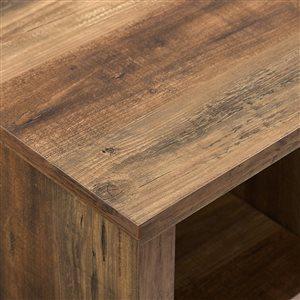 Walker Edison Rustic TV Cabinet - 58-in x 23-in - Rustic Oak