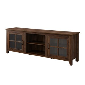 Walker Edison Farmhouse TV Cabinet - 70-in x 24-in - Dark Walnut