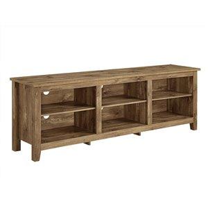 Walker Edison Modern TV Cabinet - 70-in x 24-in - Barnwood