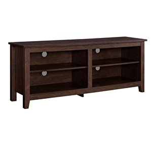 Walker Edison Casual TV Cabinet - 58-in x 24-in - Traditional Brown