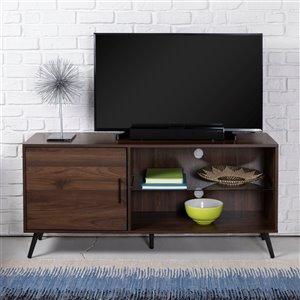 Walker Edison Mid-Century TV Cabinet - 52-in x 24-in - Dark Walnut