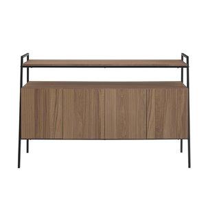 Walker Edison Industrial TV Cabinet - 52-in x 34-in - Mocha