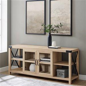 Walker Edison Farmhouse TV Cabinet - 60-in x 25-in - White Oak