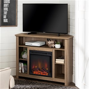 Walker Edison Country Fireplace TV Stand - 44-in x 30-in - Grey